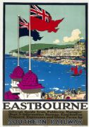 Eastbourne, East Sussex. SR Vintage Travel Poster by Kenneth Shoesmith